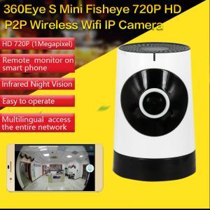 China EC5 720P Fisheye Panorama WIFI P2P IP Camera IR Night Vision CCTV DVR Wireless Remote Surveillance on iOS/Android App on sale