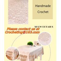 Handmade cotton lace crochet table cloth table runner American Rural nostalgia sofa cloth