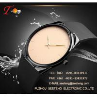 Silicone strap  with alloy case and color customized dial watch silicone watch