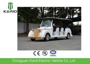 China Fiberglass Material 8 Passenger Electric Vintage Cars for Hotel Reception on sale