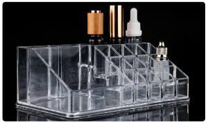 China Acrylic Holder 16 Storage Box For Tattoo Ink Permanent Makeup Display Shelf on sale