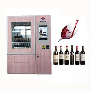 China Coin Bill Card Payment Mini Mart Vending Machine For Sandwich Drinks With Advertising Display on sale