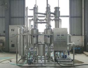 China External Circulation Backward Feed Multiple Effect Evaporator , Effluent Treatment Plant on sale