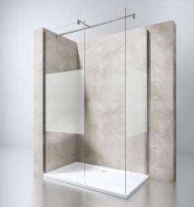 Easy Installed Frameless Walk In Glass Shower Screen With Stainless