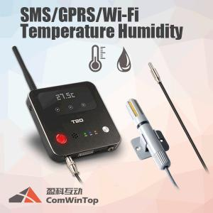 China 3G 4G GSM SMS Wifi GPRS Temperature Monitoring Humidity Data Logger 12V Input Max on sale