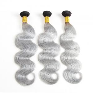 China 1B Grey Ombre Hair Weave Brazilian Ombre Curly Weave No Chemical on sale