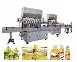 China 5L Automatic Bottle Filling Machine , Stainless Steel Edible Oil Filling Machine on sale