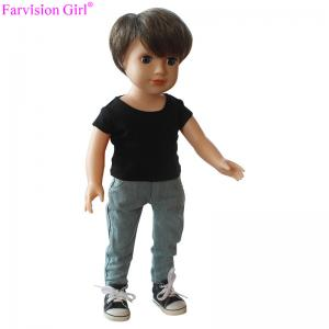 China Wholesale 18 inch real vinyl doll custom gift China baby alive toy boy dolls on sale