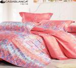 China Purified Cotton Floral Elegant Bed Set High Yarn Count With Reactive Printing wholesale