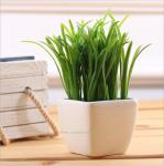 Potted artificial grass bonsai