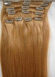 China 10# 20 Clip In Human Hair Straight Human Hair Weave For Personal Care on sale