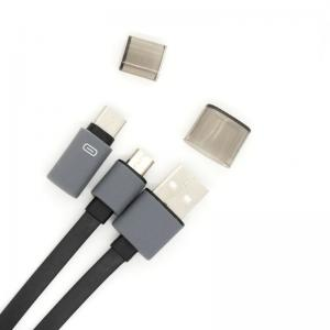 China Micro Flat USB Type C Data Cable, Type-C Connector 2 In 1 USB C To USB Cable on sale