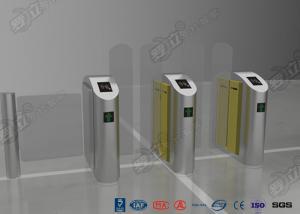 China IC / ID Identification Turnstile Barrier Gate , Sliding Gate Stainless Steel Turnstile on sale