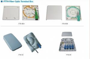 China Wall mounted Fiber Optic Terminal Box optical fiber 4 core terminal box with CE ROHS on sale