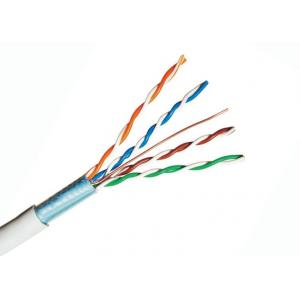 China HDPE Insulation Shielded Lan Cable , Cat5e Telephone Cable 12.2 Kg Weight on sale