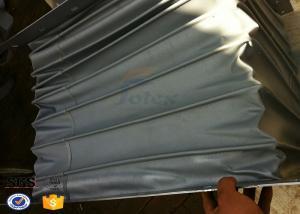 China tela revestida de la fibra de vidrio del PVC 300gsm para el conducto flexible a prueba de calor del conducto durable on sale