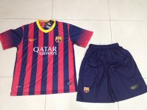 China sell 2014 Barcelona soccers player new design Home & Away jerseys football trainning wears on sale