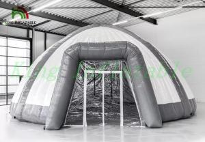 China White Grey Dome Spider Inflatable Event Tent By Waterproof PVC Tarpaulin on sale
