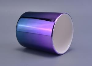 China 396Ml Capacity Luxury Ceramic Candle Holders Handmade Glazing Gradient Color on sale