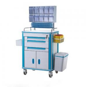 China Aluminum Alloy Frame Medical Supply Cart With Medicine Box Label Holder Drug Delivery Cart on sale