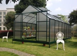 quality uv aluminum metal frame polycarbonate plastic garden greenhouse kits for plant vegetable for - Metal Picture Frame Kits