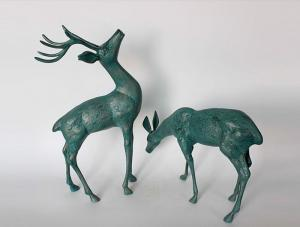 China Cast Aluminium Deer Statue on sale