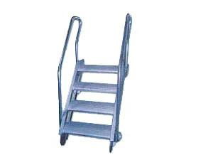 China Aluminium Alloy Marine Boarding Ladder Anti-Slip Feet Strong Anti-Rust Bulwark Ladder on sale