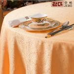 100% Polyester Cotton Decorative Round Fancy Tablecloths For Weddings Customized Size
