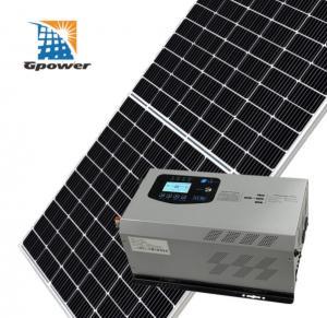 China AC input On Grid Solar Panel Kits Household Grid Tied Solar System on sale