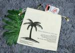 20*20 Cm Small Canvas Drawstring Bag With Silk Printing Logo For Gift Package