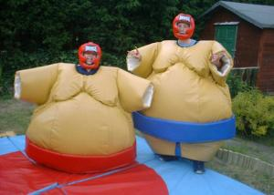 China Padded Sumo Wrestling Suits Light Weight Plato PVC With Protective Helmet on sale