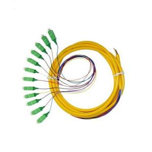 China Bunched Fiber Optic Patch Cord FC PC Connector , 12 Core Optical Fiber Cable SM on sale