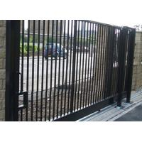 China Durable Motorised Metal Sliding Gates Powder Coated For Wall Compound on sale