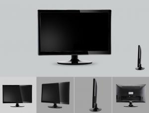 China Ultra-thin Design 18.5 Inch LED Monitor For Desktop Computer on sale