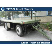 High strength low alloy steel draw bar trailer with 1 axles , 2 axles , 3 axles optional