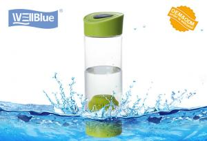 China Portable BPA Free plastic alkaline water filter bottle with carry bag on sale
