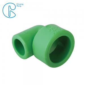 China Green Water Supply PN25 PPR Reducing Bend With Socket Welding Way on sale