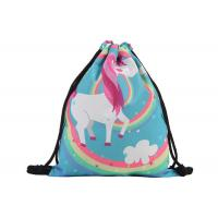 Stock 39 * 30cm  Custom Drawstring Bags With Logo Cute Polyester Material