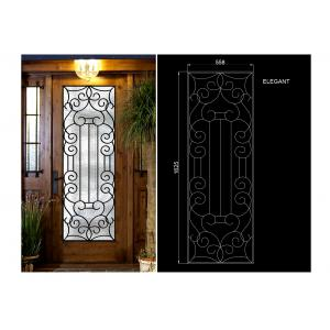 China Glass Lowes Wrought Iron Entry Doors And Glass Agon Filled 22*64 inch Durable on sale