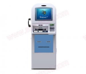 China High Safety Self service Windows 10 free standing Card dispenser Kiosk with Visa Master card reader on sale