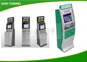 China Bank Usage Prepaid Card Kiosk , Vandal Proof Camera Computer Kiosk With Cash Acceptor on sale