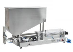 China Semi Automatic Oil Filling Machine , Liquid / Cream Filling Machine AC220V 50/60Hz on sale