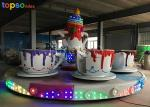 Indoor Rotary Coffee Cup Ride Steel  Teacup Amusement Ride 24p 4 R/Min