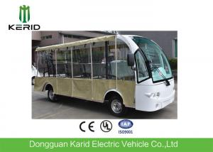 China 72V DC Motor 14 Seats Electric Sightseeing Car With Foldable Rain Shade on sale