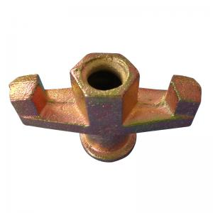 China Concrete Walls Scaffolding Accessories Ductile Cast Iron Two Wing Nut on sale