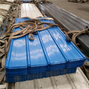 China 840mm blue corrugated roof sheets with 0.376mm for fencing wall panels on sale