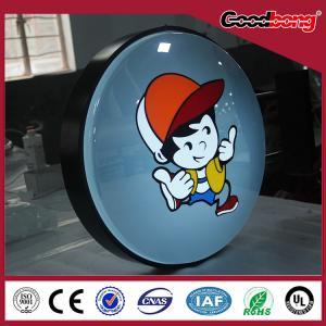 China Acrylic Panel Advertising Company Signboard round LED Llight box on sale