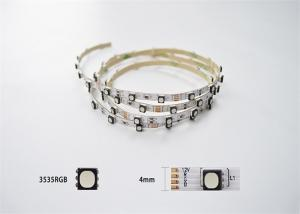China Slim 4mm Width RGB Flexible LED Strip Lights 3535 72Led / M For Architectural Decoration on sale
