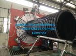 Plastic reinforced High-density polyethylene drainage pipes extruding machine