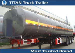 China 5mm Thickness Tank asphalt bitumen heavy oil tanker trailer with heating device on sale